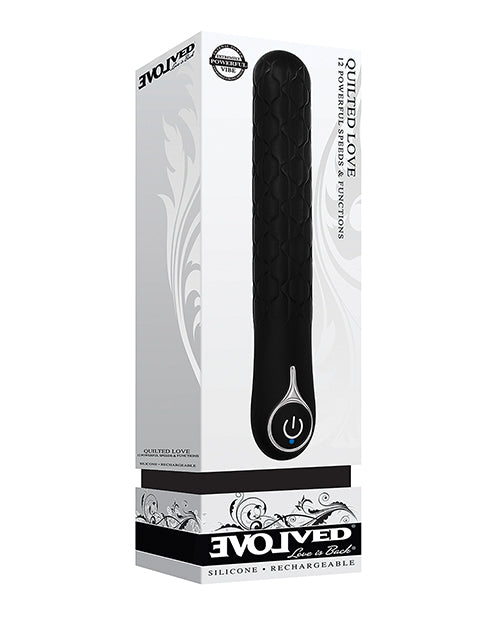 Evolved Quilted Love Rechargeable Vibrator - Black