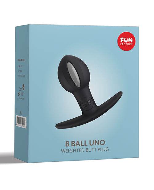 Fun Factory B Ball Uno Weighted Ball Butt Plug - Black-grey