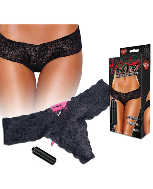 Hustler Vibrating Panties W/bullet Black.