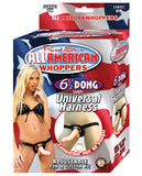 "Real Skin All American Whoppers 6.5"" Dong W-universal Harness"
