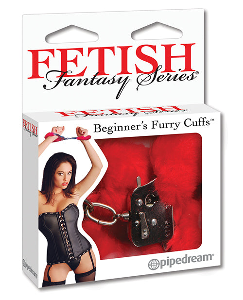 Fetish Fantasy Series Beginner's Furry Cuffs - Red