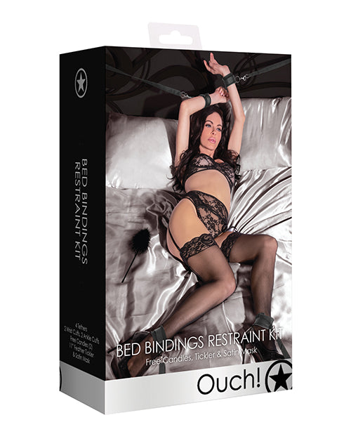 Shots Ouch Bed Bindings Restraint Kit - Black
