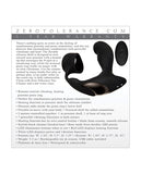 Zero Tolerance Strapped & Tapped Rechargeable Prostate Vibrator - Black