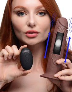 7x Remote Control Vibrating And Thumping Dildo