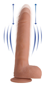 Vibrating & Thrusting Remote Control Silicone Dildo - Comes in Flesh color, size 9 or 10 inches