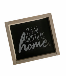 """Home"" Painted  Wood Sign"