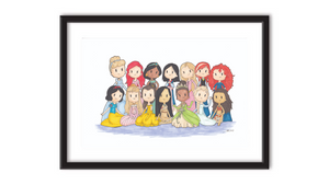 "Disney Princesses (8"" x 10"" Print)"