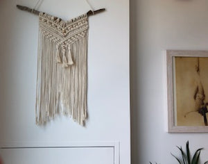 Beaded Eclectic Macrame Wall Hanging