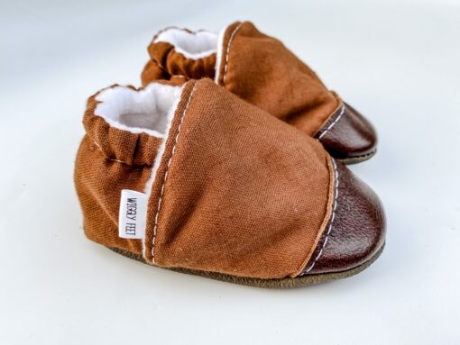Cocoa Leather Baby Shoe