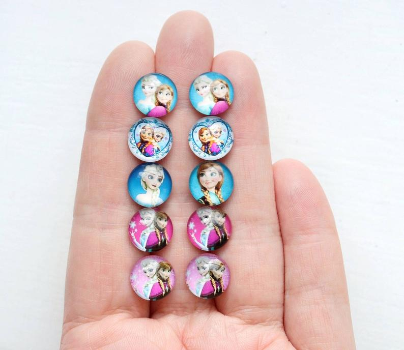 Elsa and Anna Earrings
