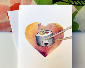 SUSHI - A2 GREETING CARD & ENVELOPE