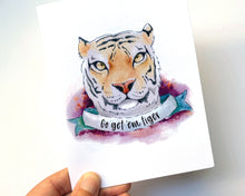 Load image into Gallery viewer, TIGER - A2 GREETING CARD & ENVELOPE