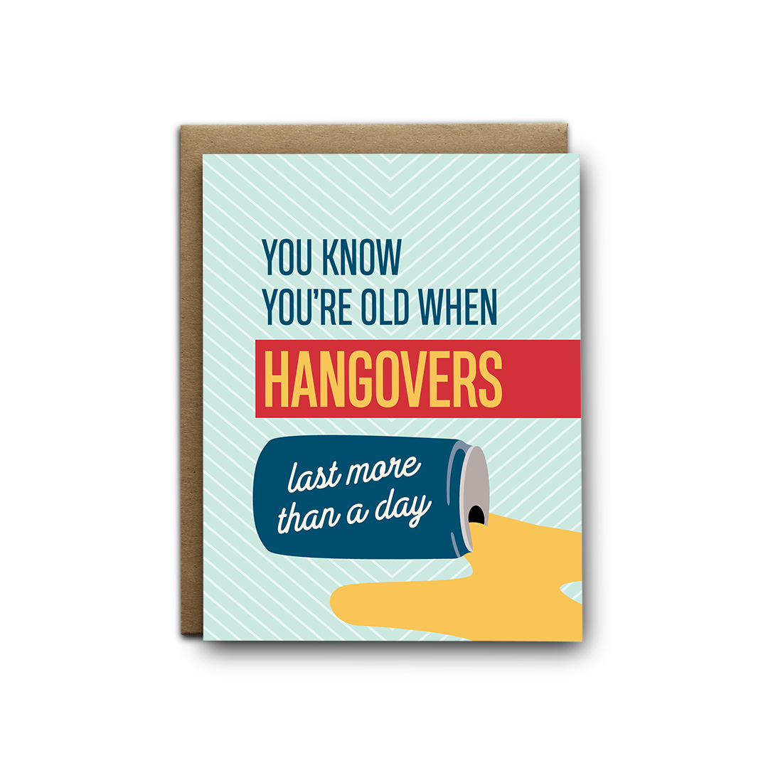 Hangovers Birthday Greeting Card