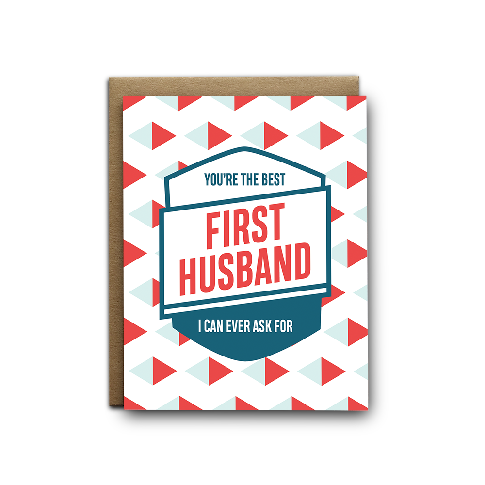 Best First Husband Ever Love Greeting Card
