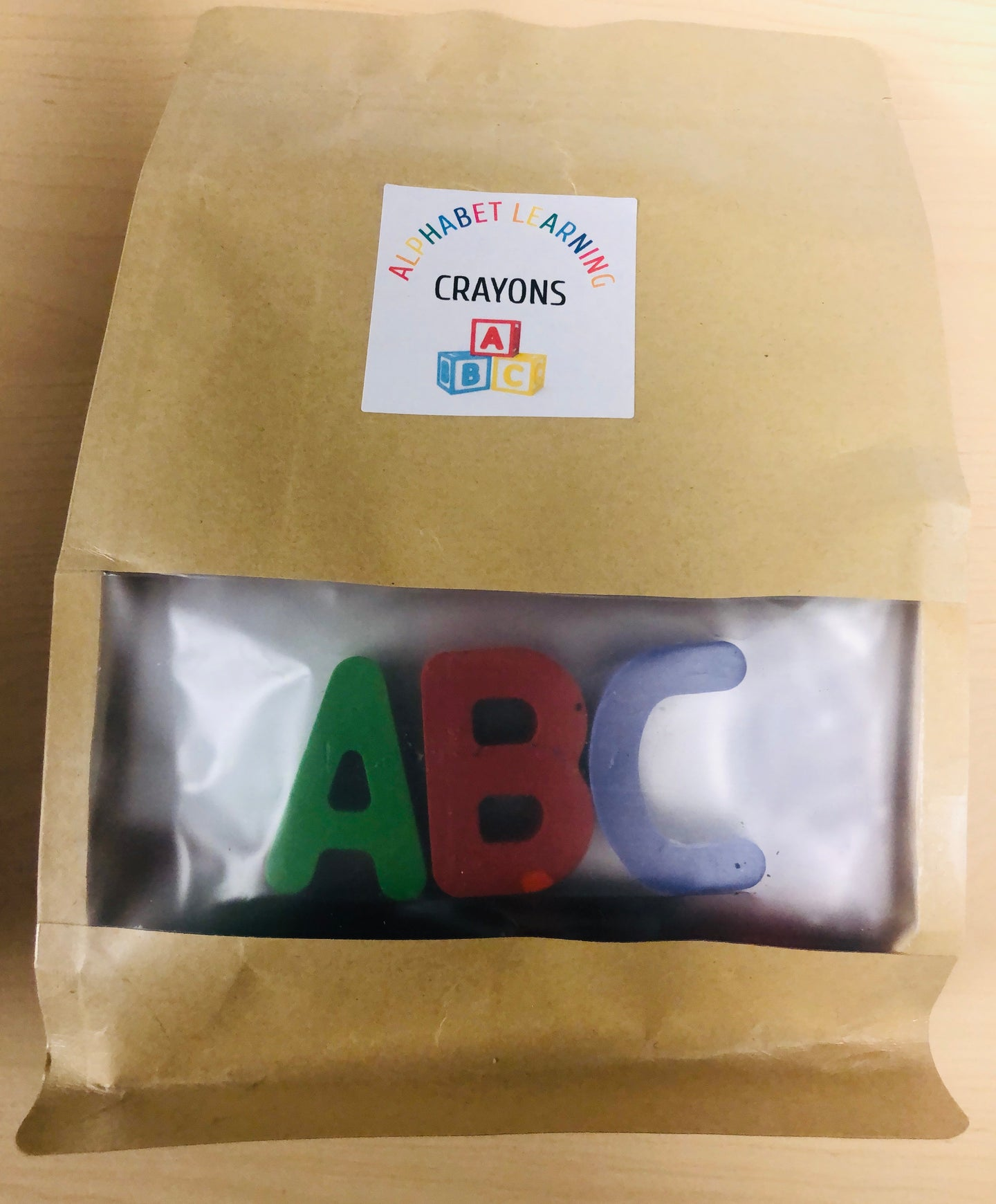 Alphabet Learning Crayon Letters