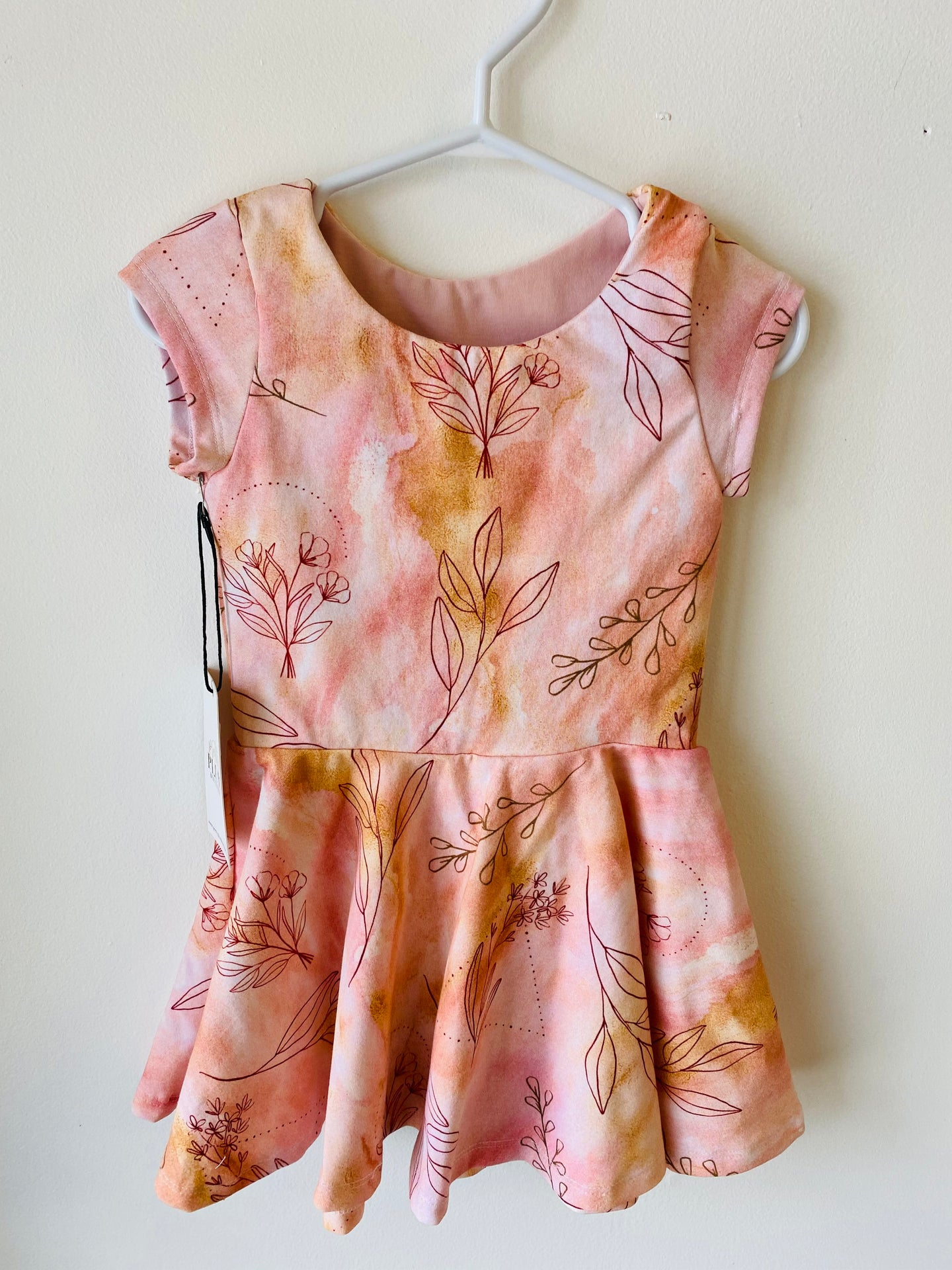 Sunkissed Wildflower Peplum Dress