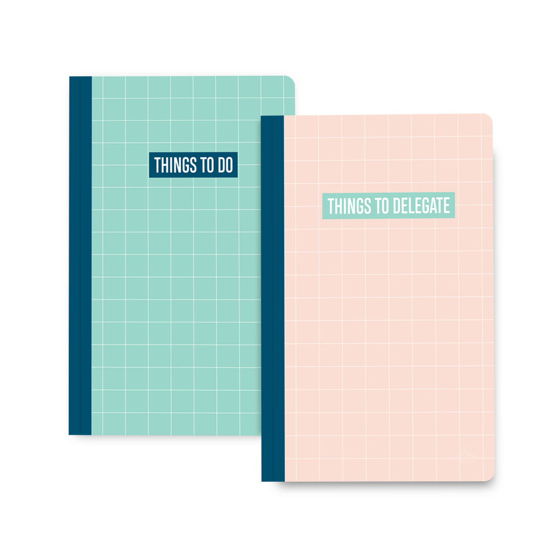 To Do/To Delegate Double-sided Notebook