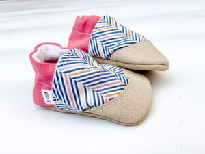 Pink Stripe Baby Shoe