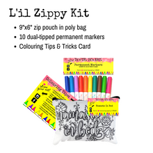 Load image into Gallery viewer, L'il Zippy Colouring Pouches Kit