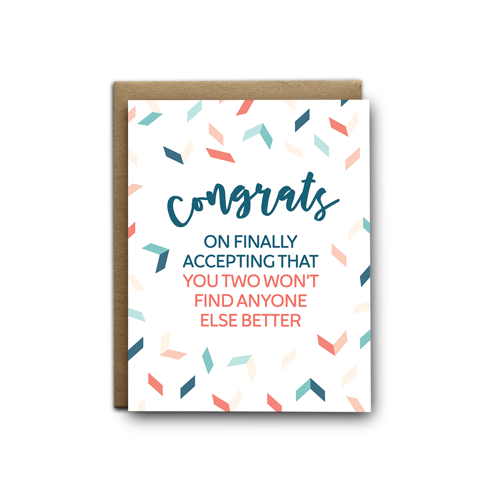 Won't Find Better Wedding Greeting Card
