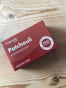 Friendly Soap: patchouli & sandalwood (95g)