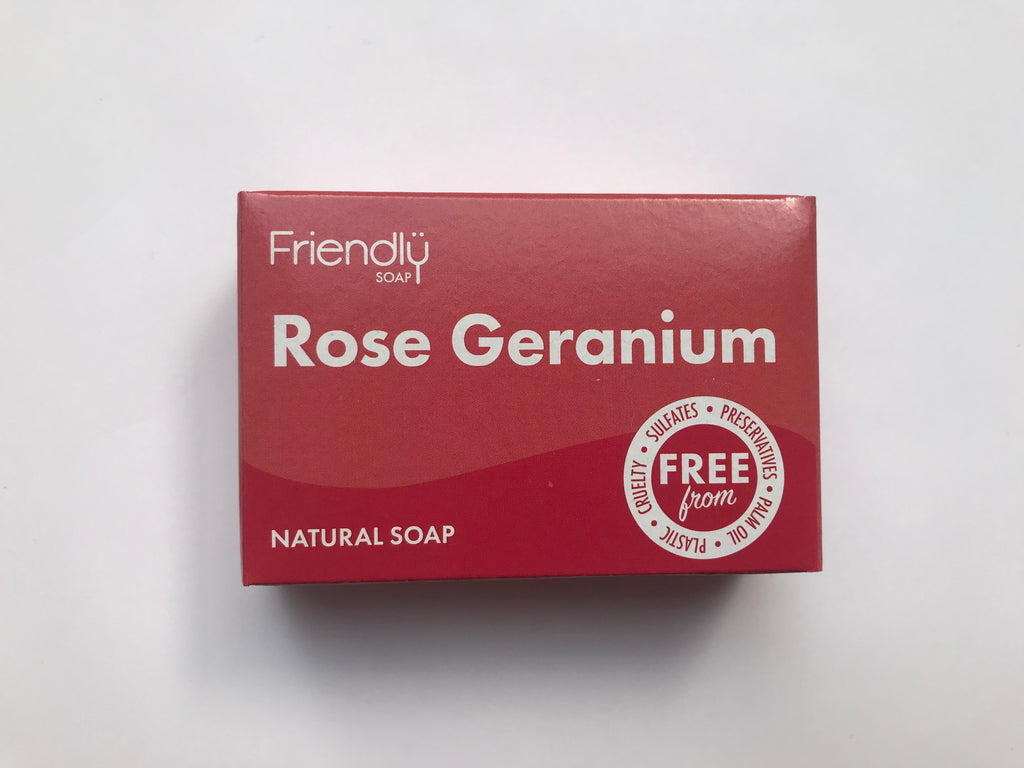 Friendly Soap: rose geranium (95g)