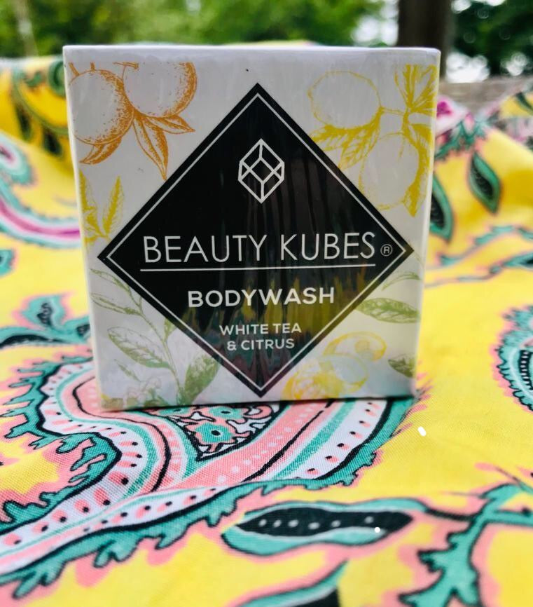 Beauty Kubes body wash: white tea & citrus