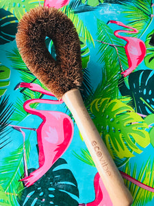 Ecovibe coconut scourer with handle