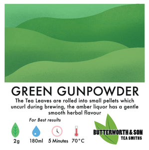 Loose leaf tea: Green Gunpowder
