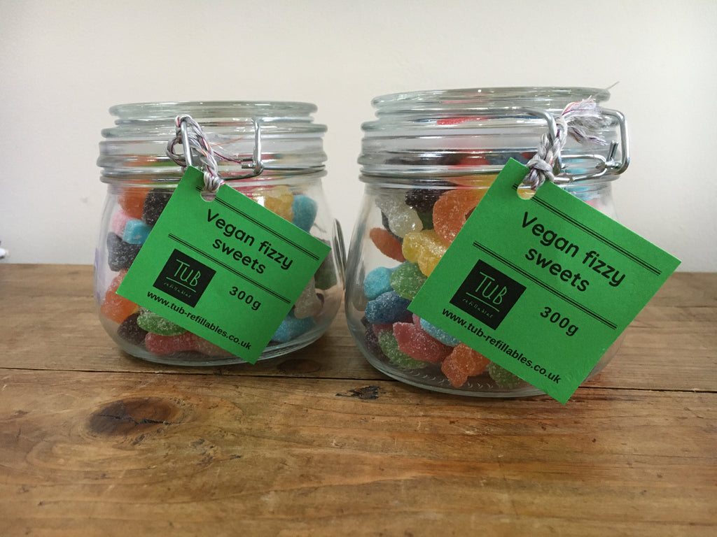 300g fizzy sweets jar