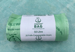 Compostable bin liners 50L (25)
