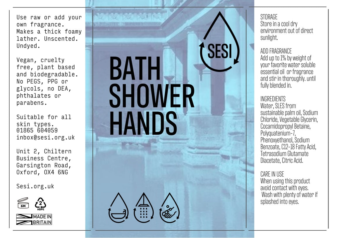 SESI bath, shower, hands (unfragranced)
