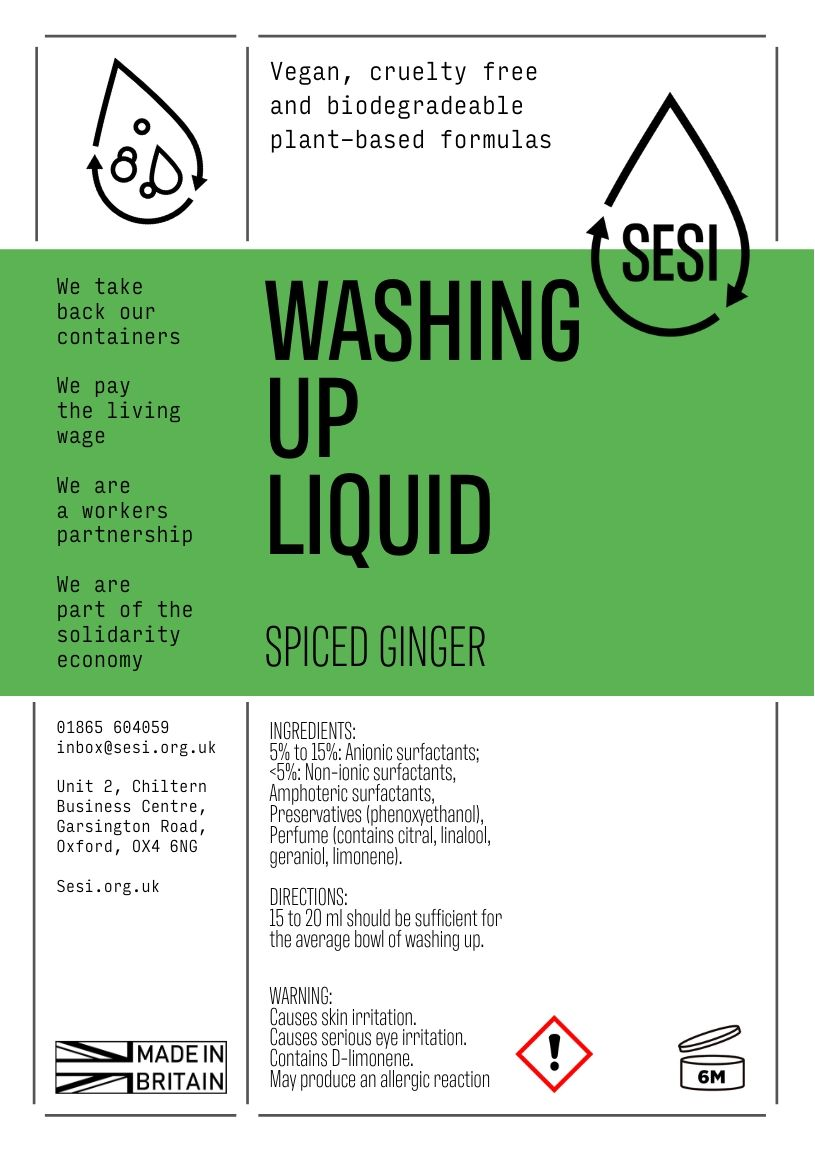 SESI washing-up liquid (spiced ginger)