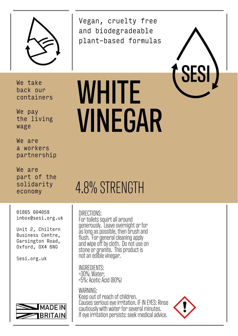 SESI white vinegar for cleaning