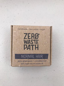 ZWP 2-in-1 shampoo & conditioner bar for normal hair (70g)