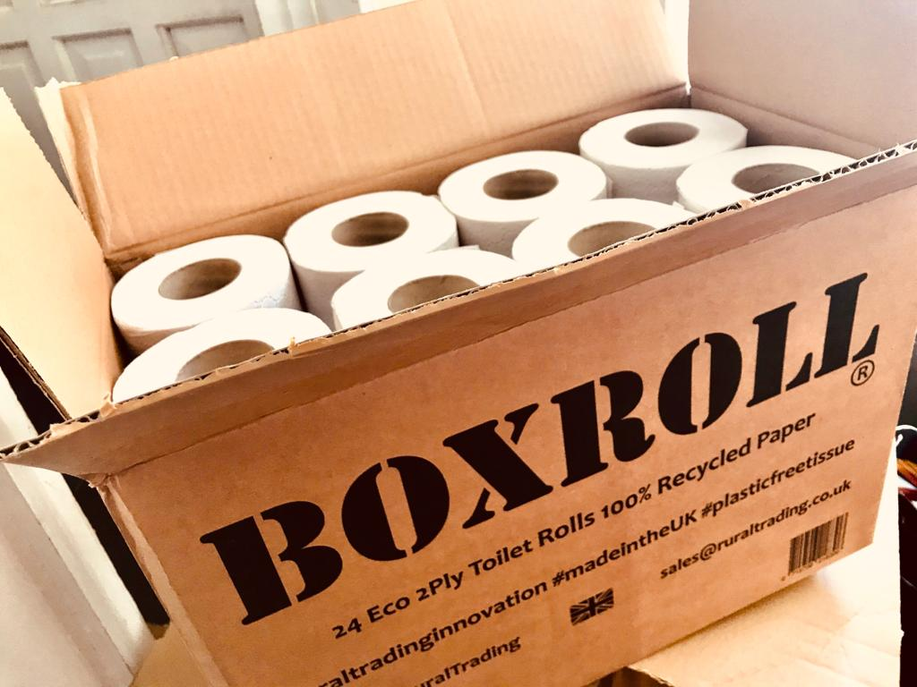 Boxroll recycled loo paper