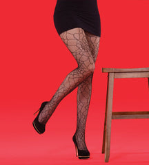 Silky Lace Stocking Spider Net Black Tights