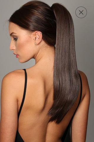 Stranded Long Clip in Straight Ponytail
