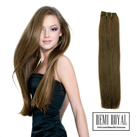 Remi Royal Luxury AAA Double Drawn Human Hair Extensions Weft