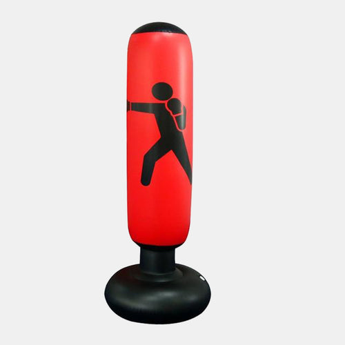Vertical Inflatable Boxing Column Red
