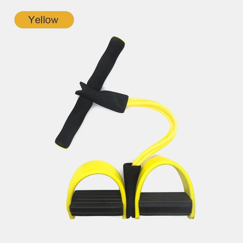 Fitness 4-Tubes Pull Rope Expander Yellow-Black