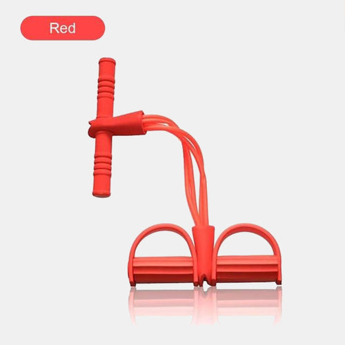 Fitness 4-Tubes Pull Rope Expander Red