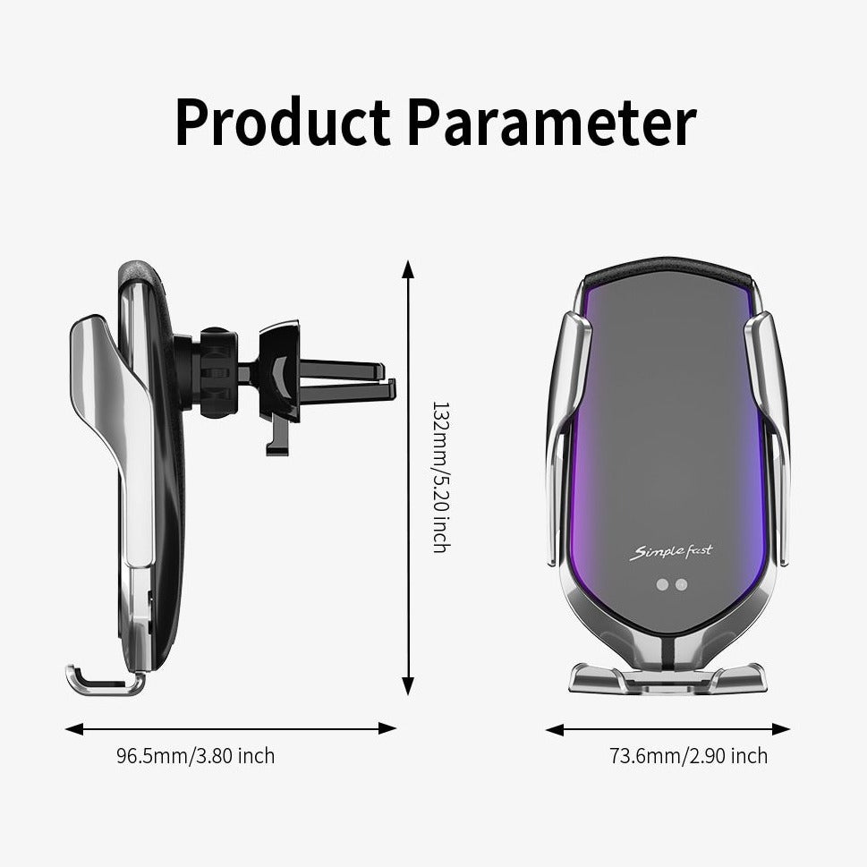 Auto-Clamping Wireless Car Charger, 10W Qi Fast Charging