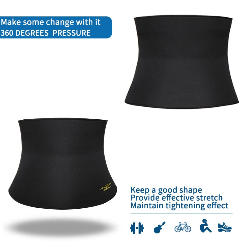 Waist Trimmer Body Shaping Slimming Belt Black