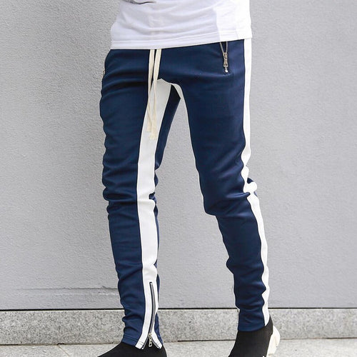 Sportswear Zippper Pants Blue-White