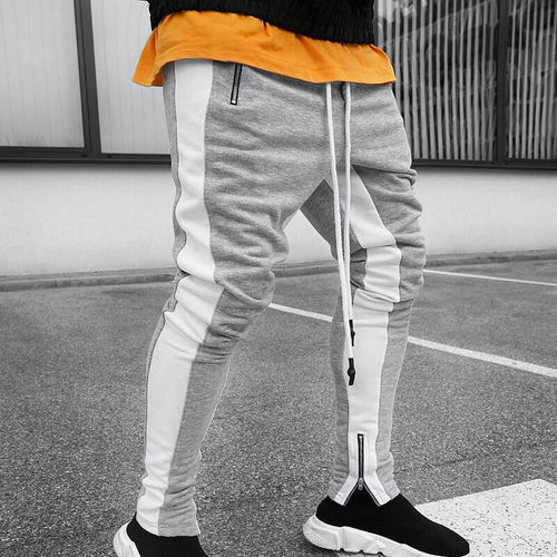 Sportswear Zippper Pants Grey-White