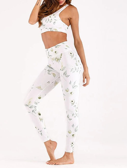 Women Seamless printed Sports Suits Yoga Set