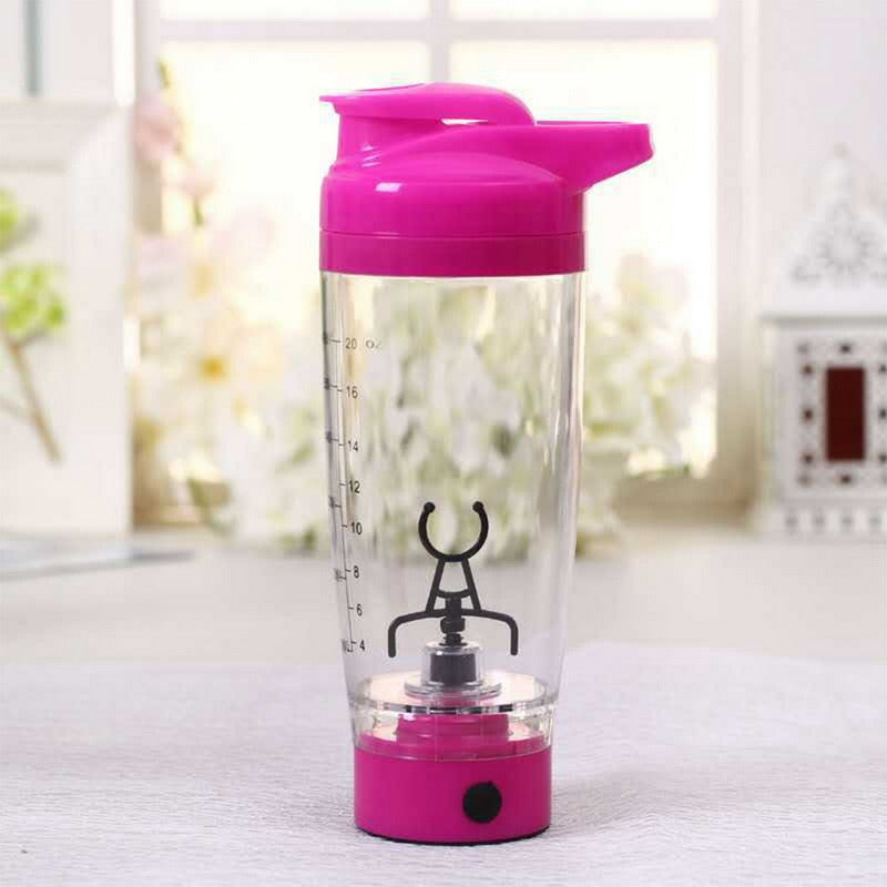 Electric mixer Protein Shaker Bottle 600 ml pink