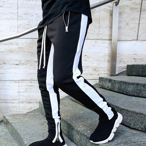 Sportswear Zippper Pants Black-White