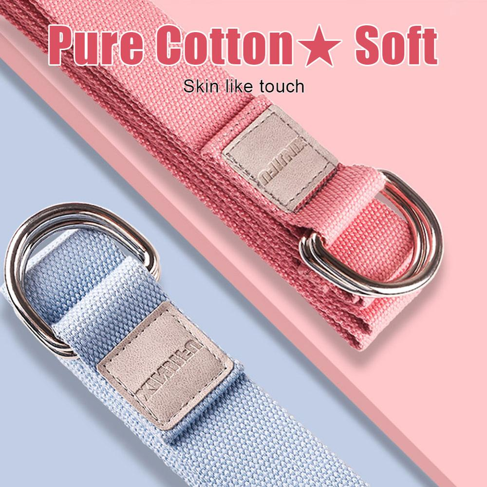 Stretching Strap/Belt 3.2m  And Yoga Blocks Combo Pink